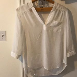 Silky blouse 3/4 sleeve . White and new